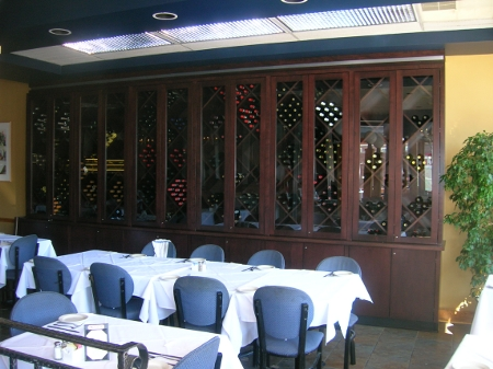 Cafe La Fontana - Maple Wine Cabinet